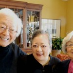 Dr. Henry Sugiyama with wife Joanne (right) and daughter Constance. Photo Credit: UBC Public Affairs