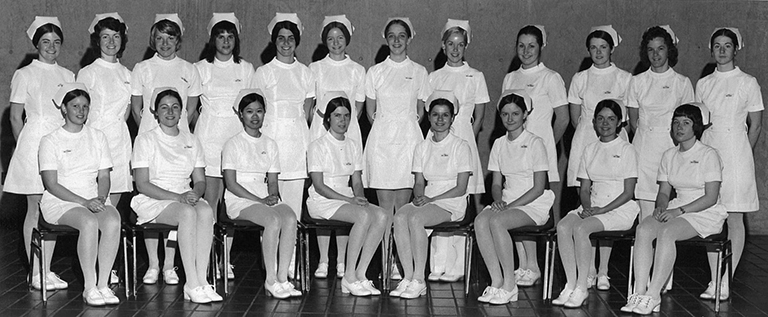 Late 1960's Dental Hygiene Class. Photo Credit: UBC Dentistry Archive