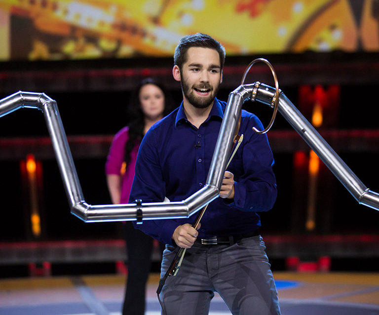 "Braden Lauer beat seven other finalists to become ""Canada's Smartest Person"". Photo Credit: CBC"