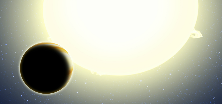 Artist's conception of new exoplanet. Credit: Harvard-Smithsonian Centre for Astrophysics.